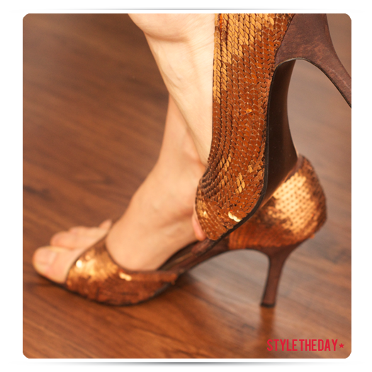 Copper Sequin Shoes